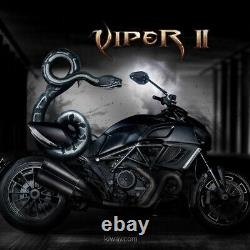 Rétros ViperII noir universel adjustable pour Honda xrv 750 africa twin VF 1000