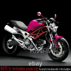 Rétros moto Missie rose + carbone blanc pour honda xrv 750 africa twin VF 1000