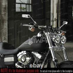 Rétroviseur chromé moto convexe CNC pour honda xrv 750 africa twin VF 1000
