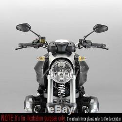 Rétroviseur noir ZIPPER style CNC stem pour Honda xrv 750 africa twin VF 1000