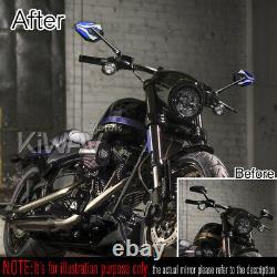 Rétroviseurs ViperII noir bleu M10 5/16 pour Honda xrv 750 africa twin VF 1000