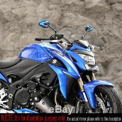 Rétroviseurs ViperII noir bleu universel pour Honda xrv 750 africa twin VF 1000