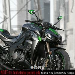 Rétroviseurs ViperII noir vert universel pour Honda xrv 750 africa twin VF 1000