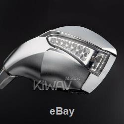 Rétroviseurs chromé LED Clignotant moto pour honda xrv 750 africa twin VF 1000