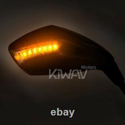 Rétroviseurs chromé mat LED 10mm pour Honda XRV 750 africa twin VF 1000