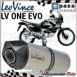 Silencieux Approuve Leovince LV One Evo Inox Honda Xrv Africa Twin 750 2000 2001