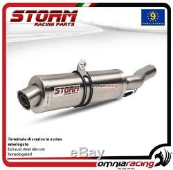 Storm OVAL Pot D'Echappement acier approuve HONDA XRV750 AFRICA TWIN 932002